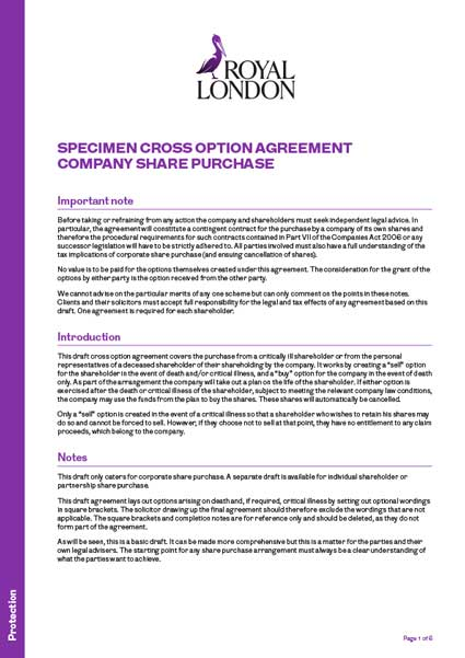 Cross Purchase Agreement Template What Are Cross Purchase And