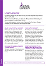 Lifestyle Review leaflet